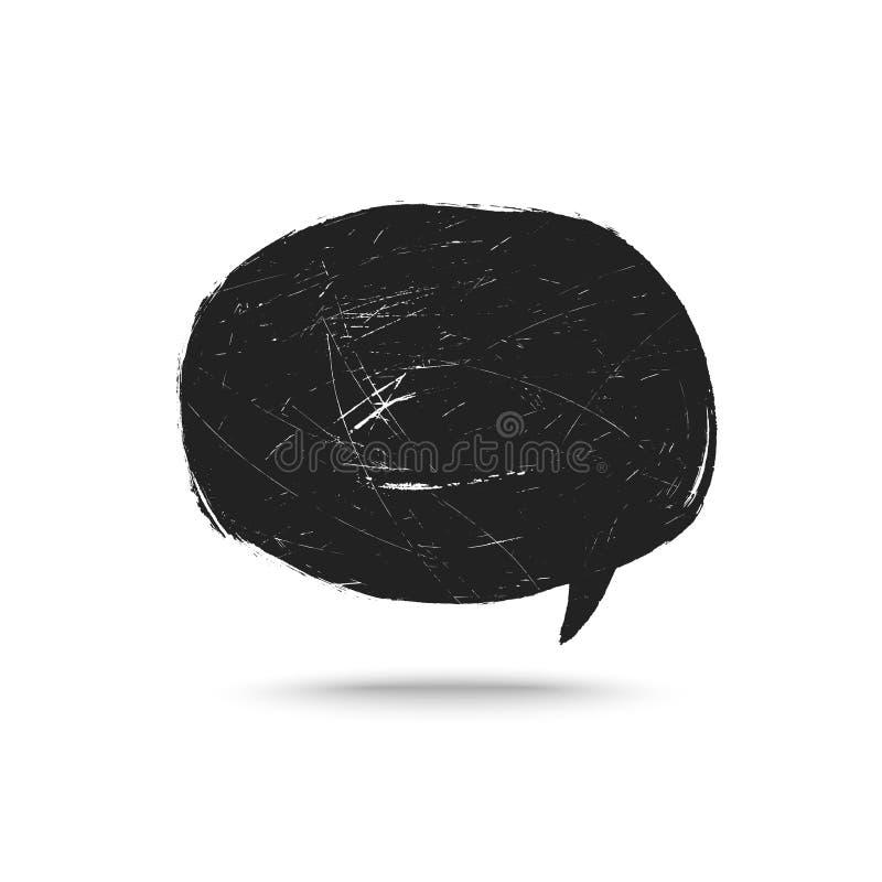 Grunge говорит пузырь бесплатная иллюстрация