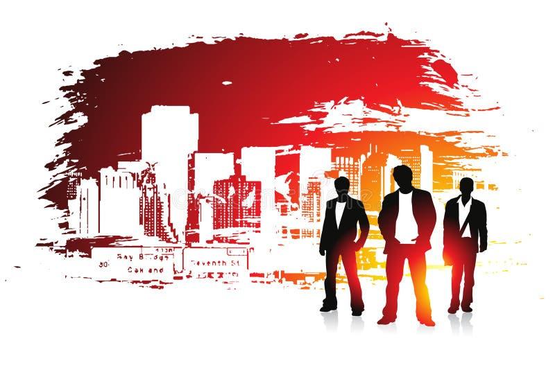 grunge города урбанское иллюстрация вектора