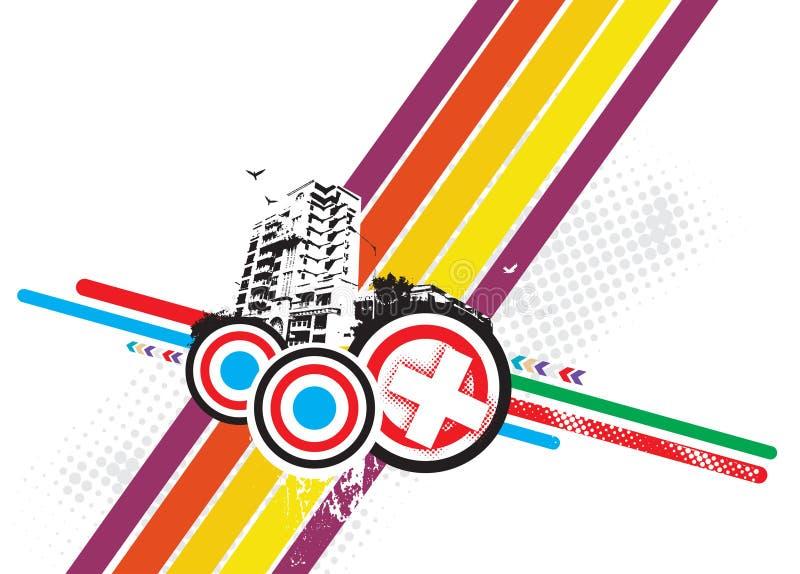 grunge города урбанское иллюстрация штока