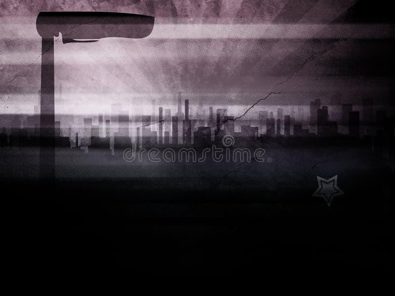 grunge города иллюстрация вектора
