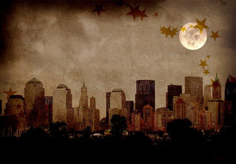 grunge города иллюстрация штока
