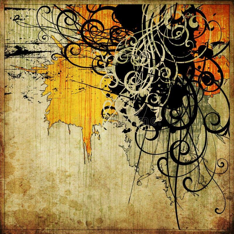 grunge графика предпосылки абстрактного искусства иллюстрация штока
