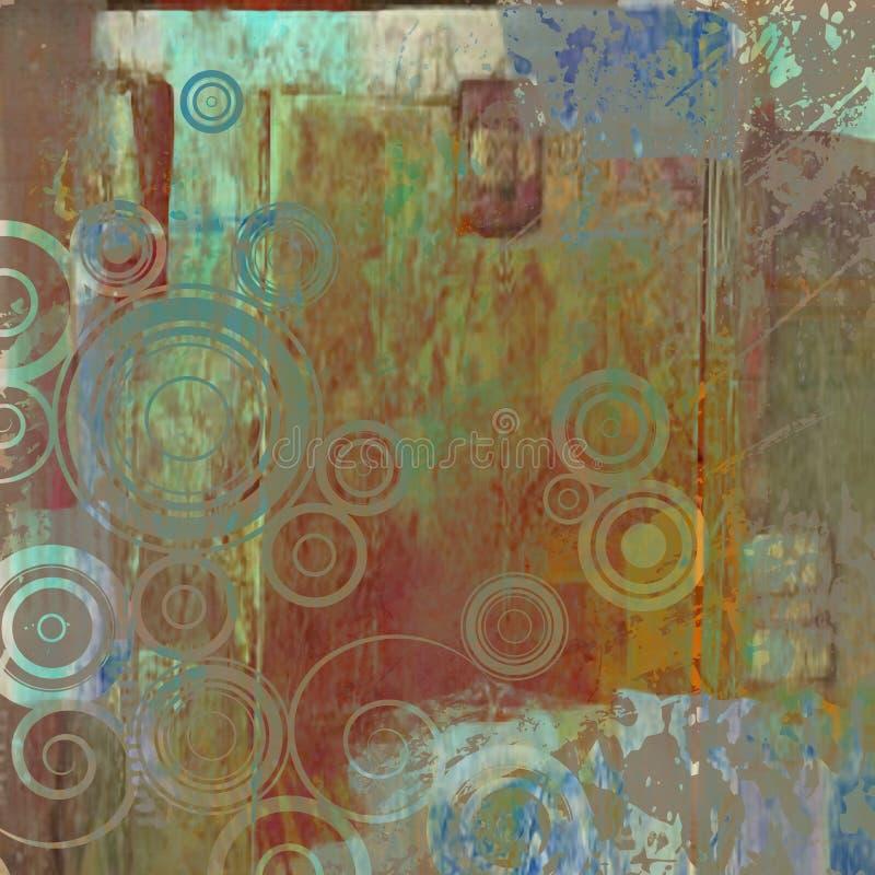 grunge графика предпосылки абстрактного искусства иллюстрация вектора