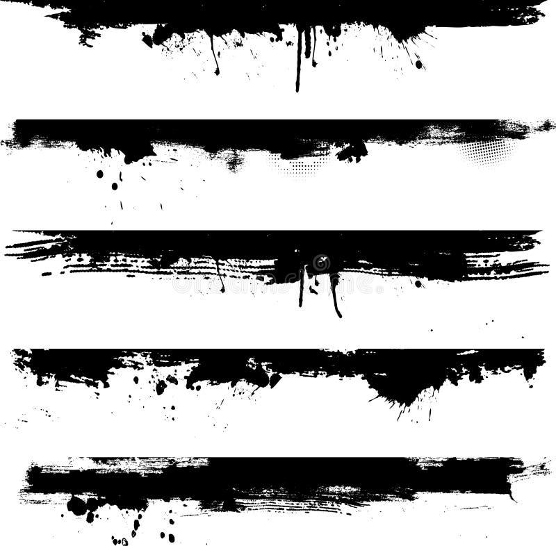 grunge детали границ иллюстрация вектора