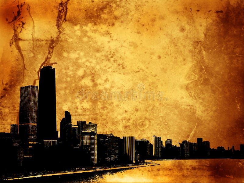 grunge зданий бесплатная иллюстрация