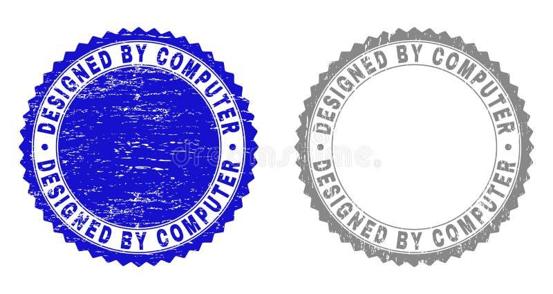 Grunge КОНСТРУИРОВАННЫЙ КОМПЬЮТЕРОМ текстурировал печати иллюстрация штока