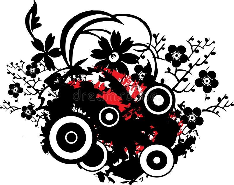 grunge конструкции флористическое иллюстрация штока