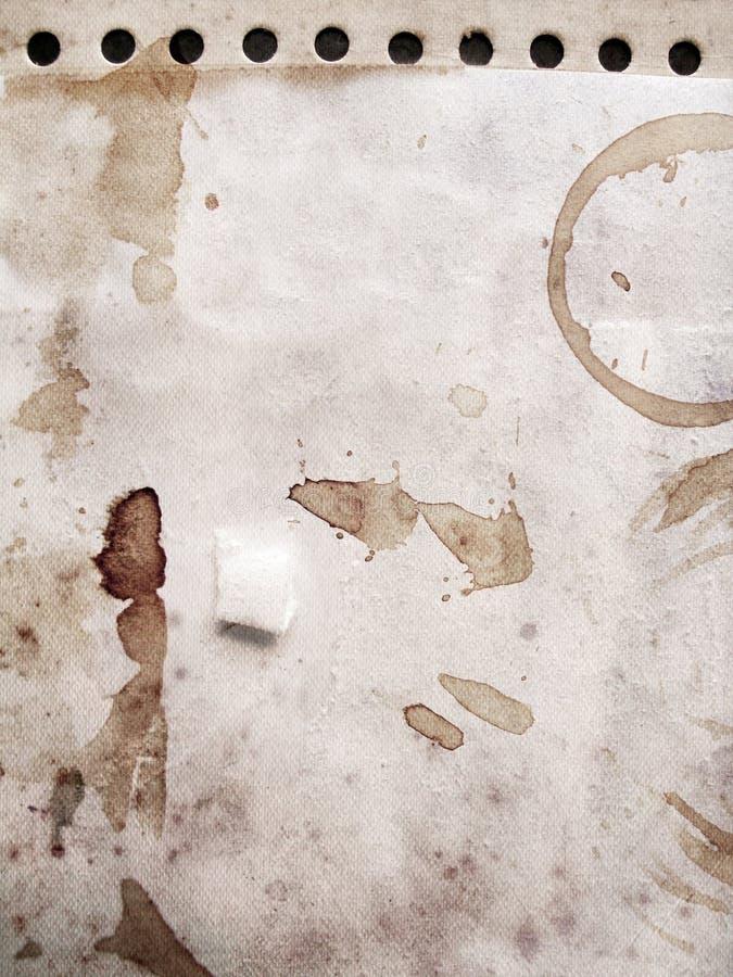 grunge кофе маркирует бумагу иллюстрация вектора