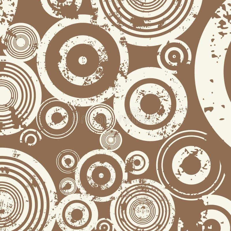 grunge круга предпосылки иллюстрация вектора