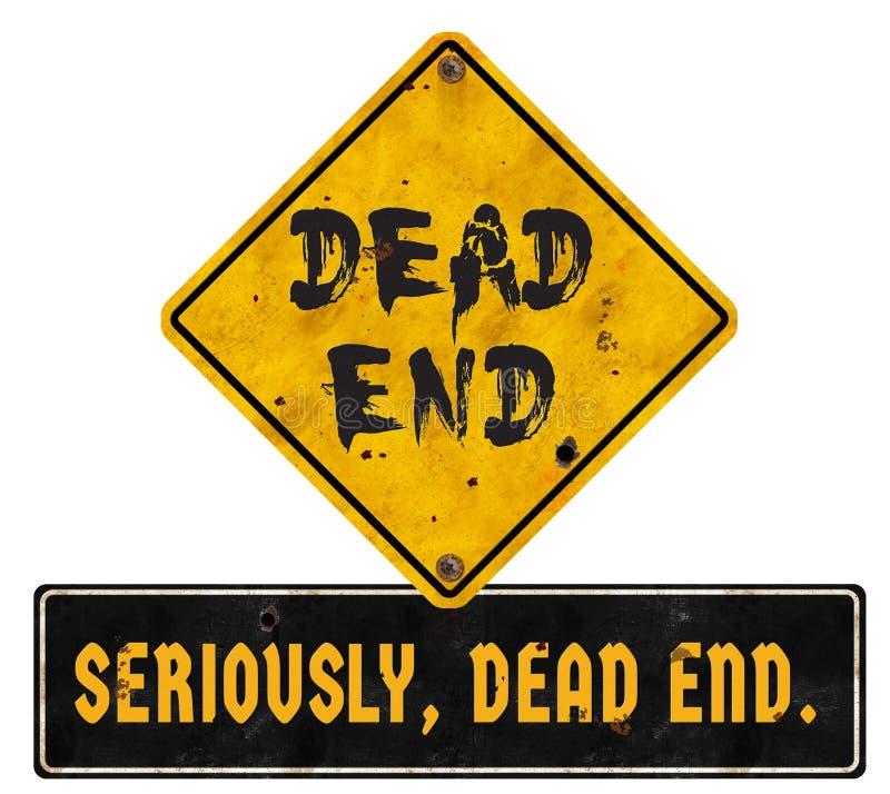 Grunge мертвого конца знака хеллоуина стоковое фото rf