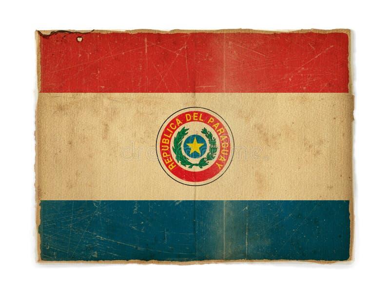 grunge Парагвай флага стоковое изображение
