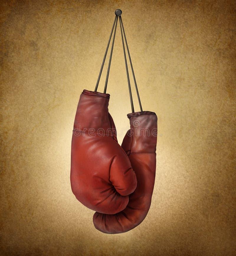 Grunge перчаток бокса иллюстрация вектора