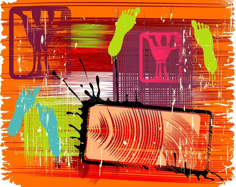 grunge почищенное щеткой предпосылкой бесплатная иллюстрация