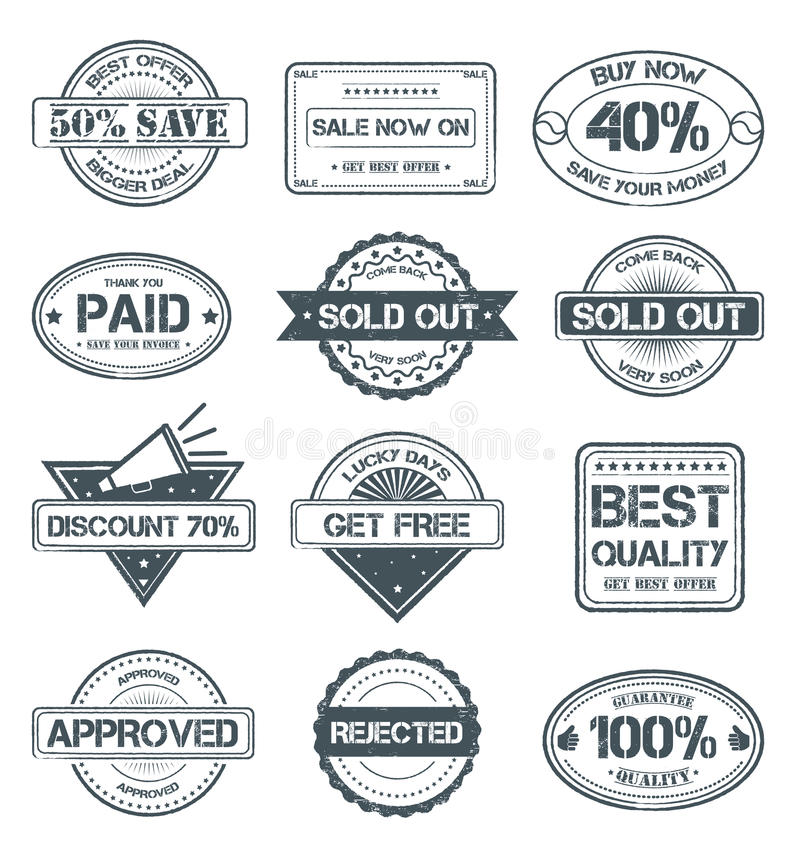 grunge продавая штемпеля бесплатная иллюстрация