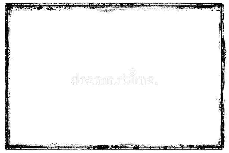 grunge рамки черной граници детальное иллюстрация вектора