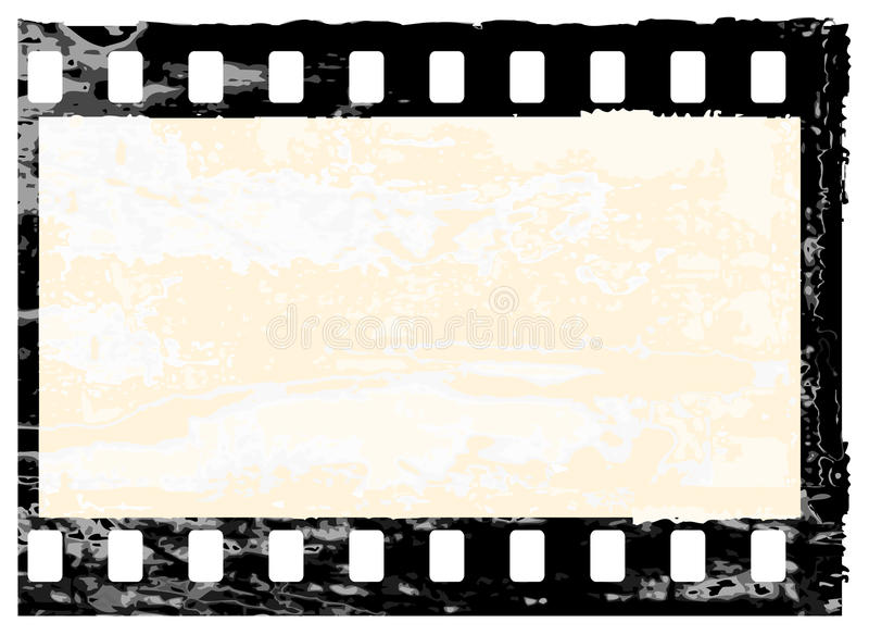 grunge рамки filmstrip иллюстрация вектора