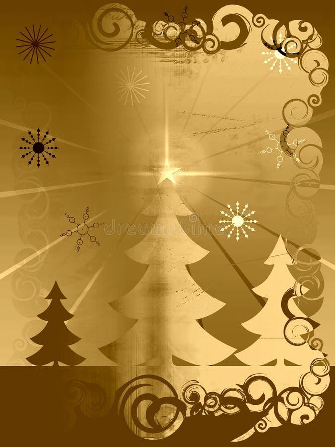grunge рождества ретро иллюстрация вектора