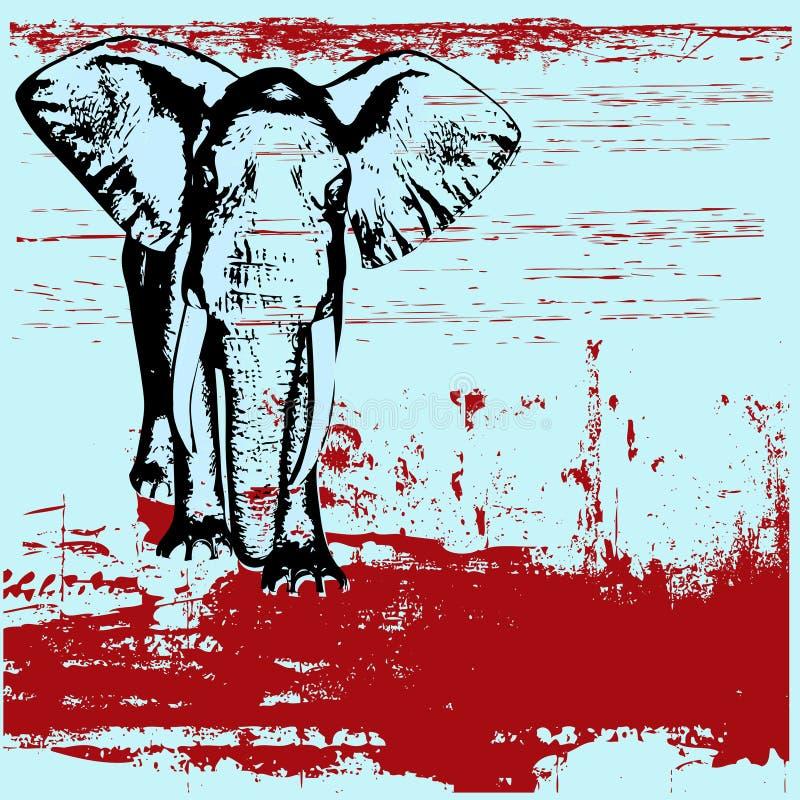 grunge слона предпосылки бесплатная иллюстрация