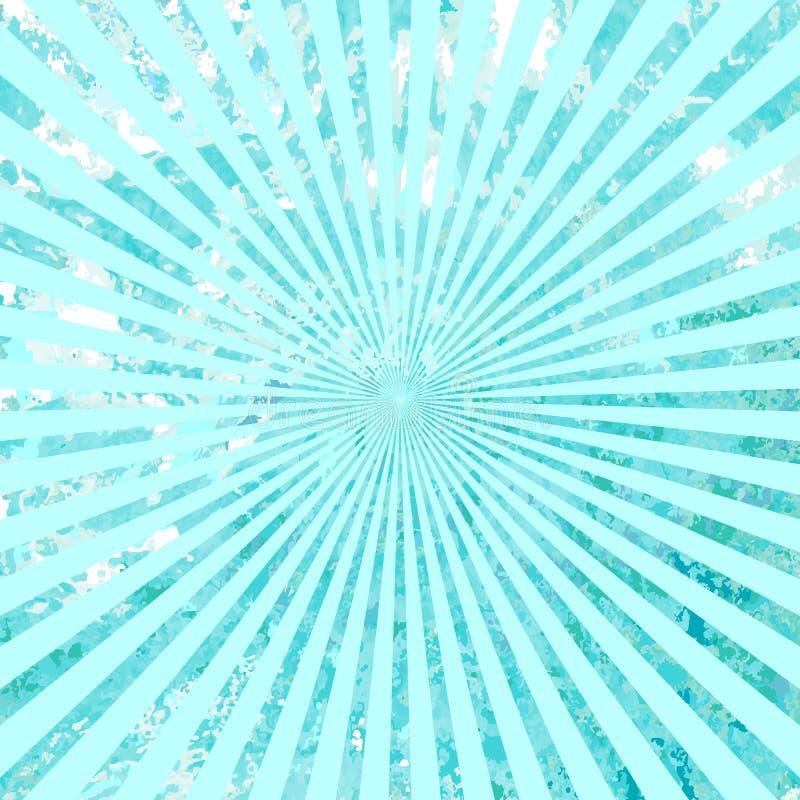 Grunge Солнце Sunburst излучает текстуру предпосылки вектор иллюстрация вектора