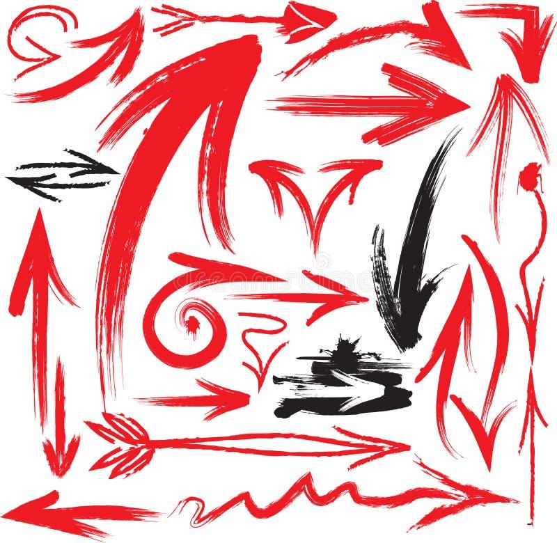 grunge стрелок иллюстрация штока