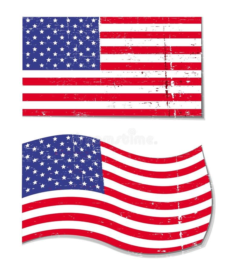 grunge США американского флага