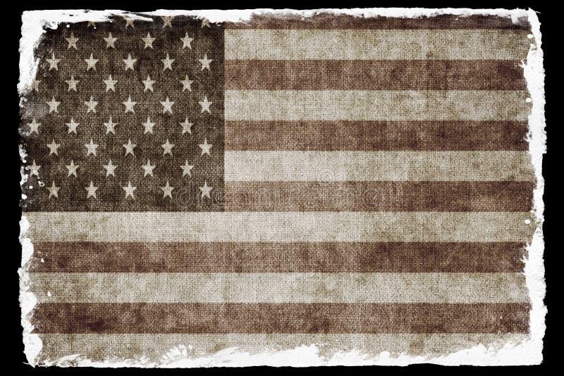 grunge США флага стоковые изображения