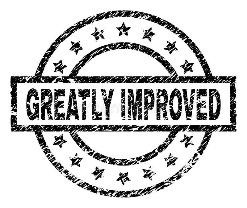 Grunge текстурировал ЗНАЧИТЕЛЬНО УЛУЧШЕННОЕ уплотнение печати иллюстрация вектора