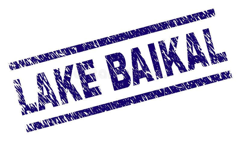 Grunge текстурировал уплотнение печати LAKE BAIKAL иллюстрация штока