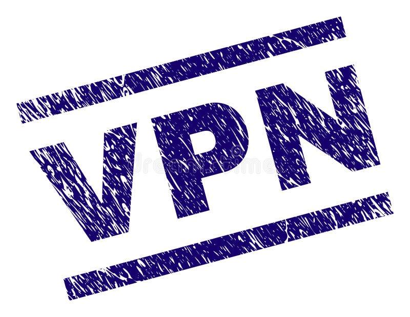 Grunge текстурировал уплотнение печати VPN иллюстрация штока