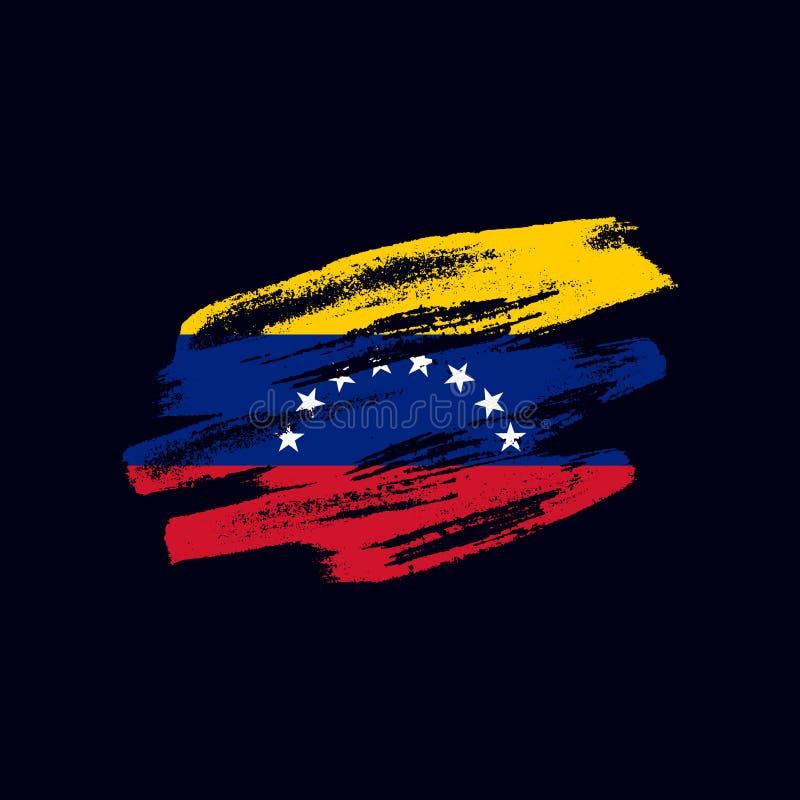 Grunge текстурировал флаг Venezuealan стоковые изображения rf