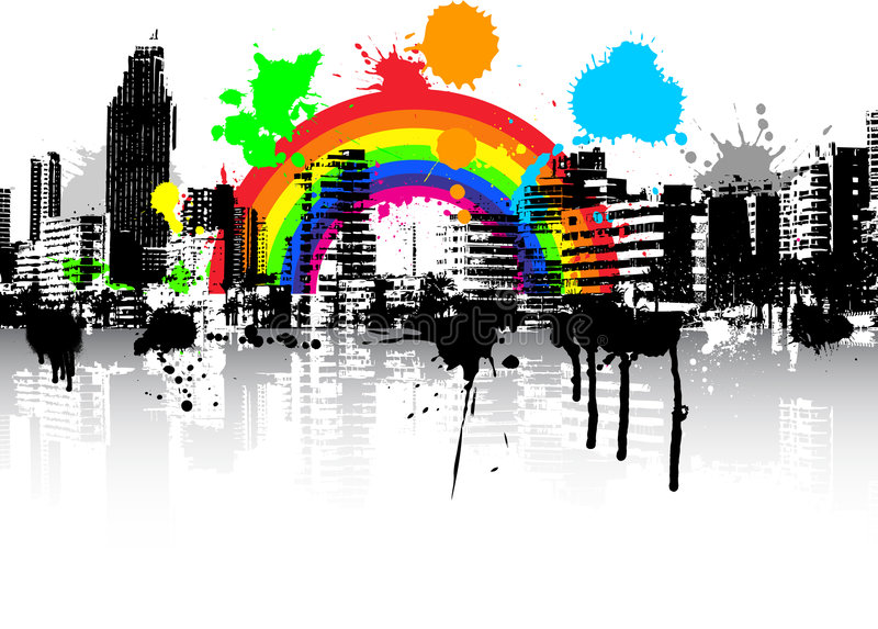 grunge урбанское иллюстрация вектора