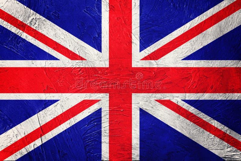 grunge флага Британии большое Флаг Юниона Джек с текстурой grunge стоковое изображение rf