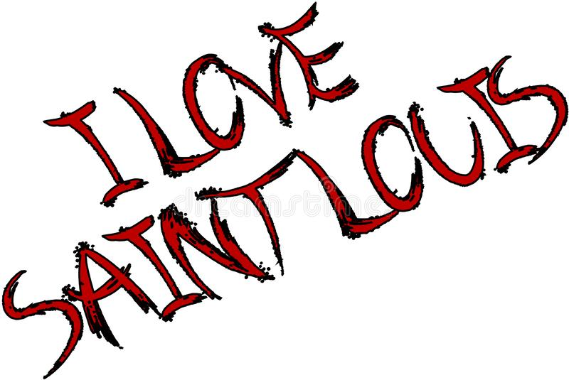 Grunge художественный я иллюстрация Сент-Луис любов иллюстрация вектора