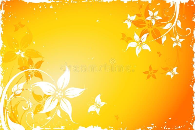 grunge цветка бабочки предпосылки бесплатная иллюстрация