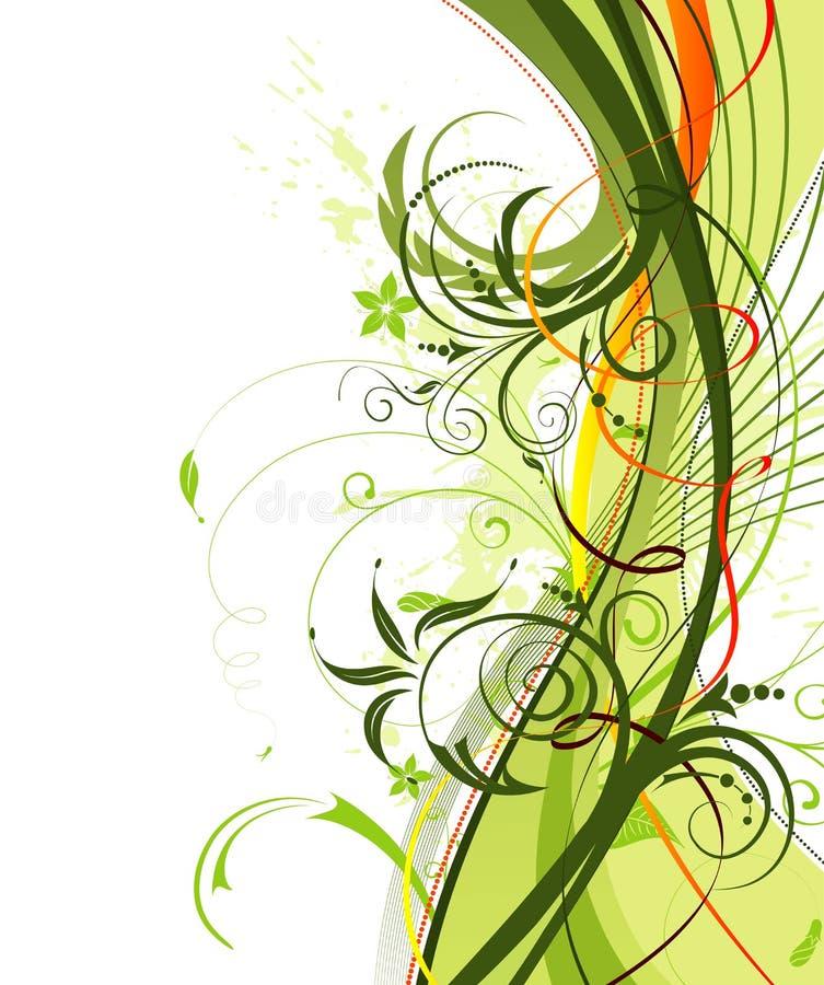 grunge цветка предпосылки бесплатная иллюстрация