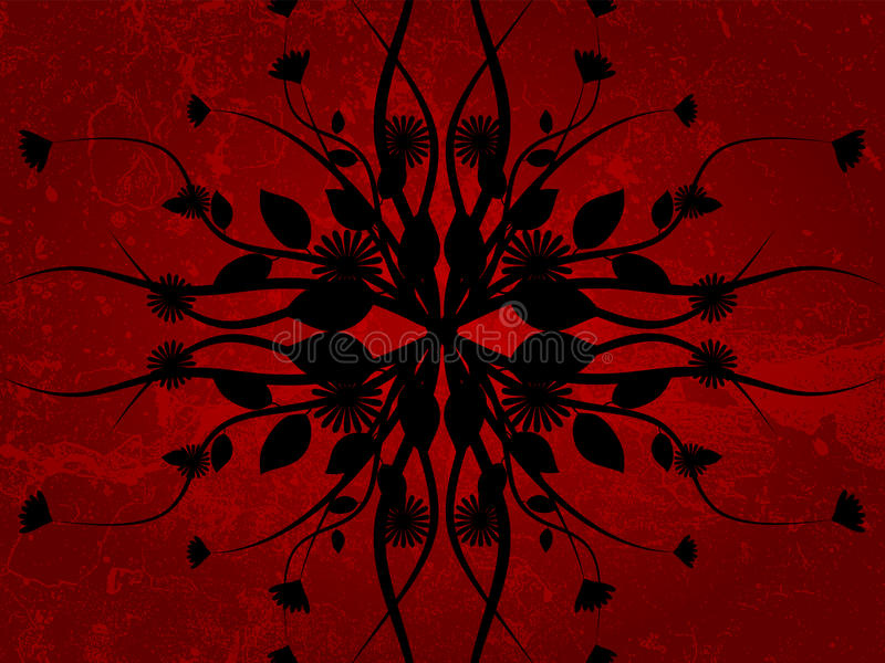 grunge цветка иллюстрация штока