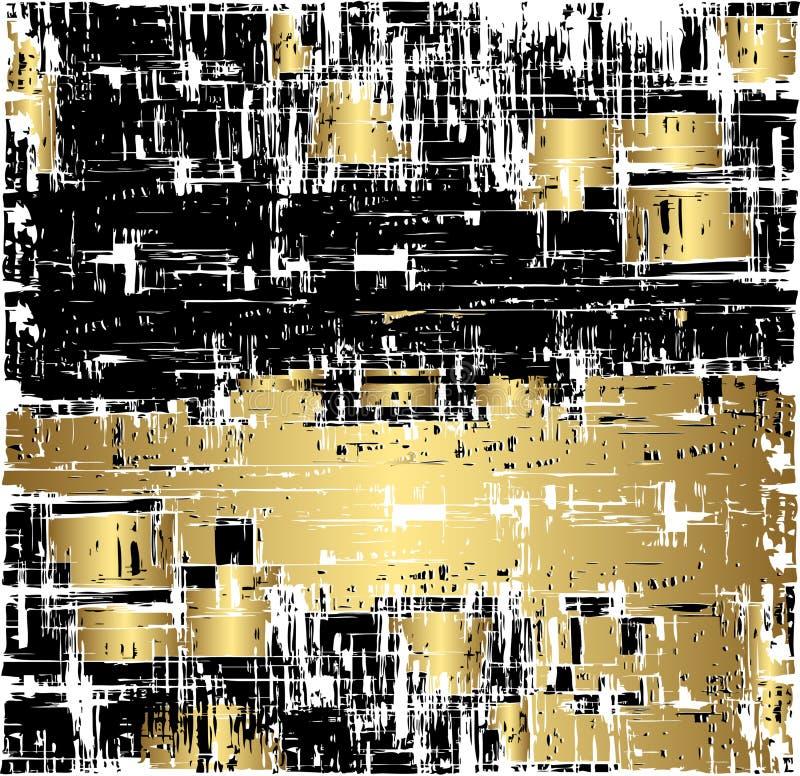 grunge черного золота предпосылки иллюстрация штока