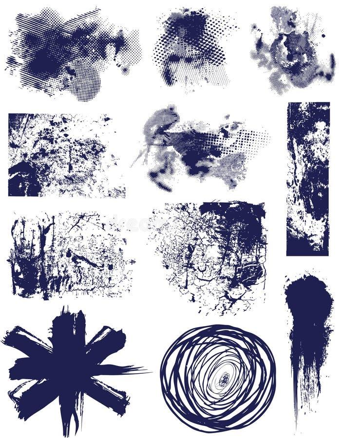 grunge элементов иллюстрация штока