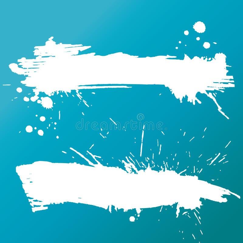 grunge 2 знамен бесплатная иллюстрация