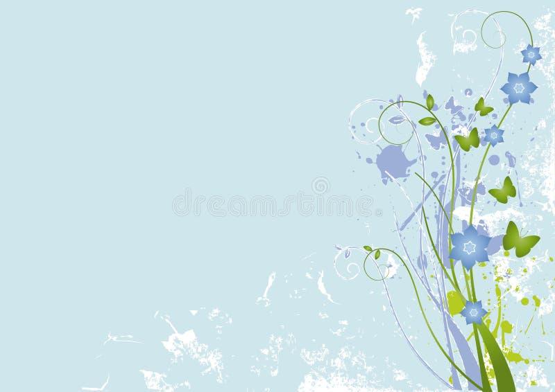 grunge 2 предпосылок флористическое иллюстрация вектора