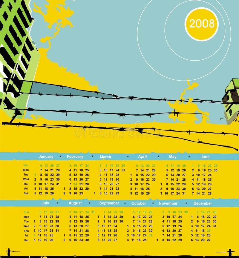 grunge 2008 календаров урбанское бесплатная иллюстрация