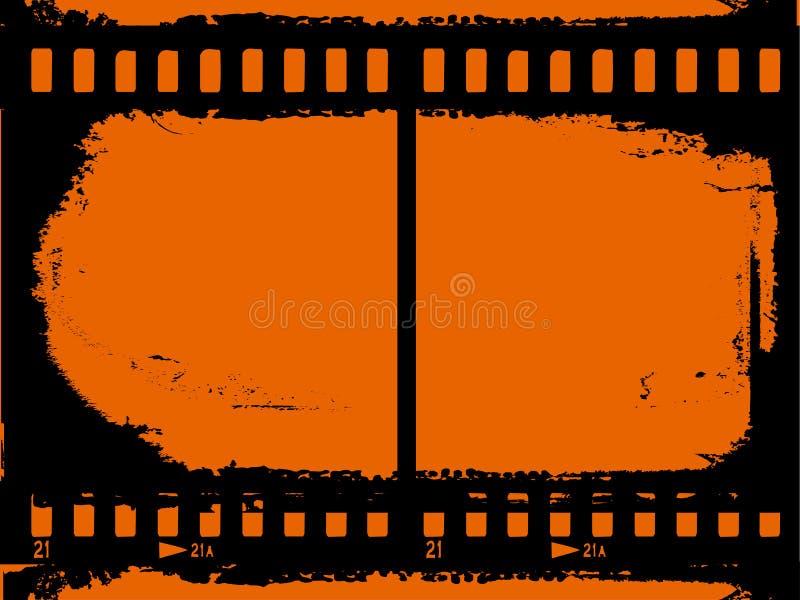 Grunge 35mm achtergrond vector illustratie