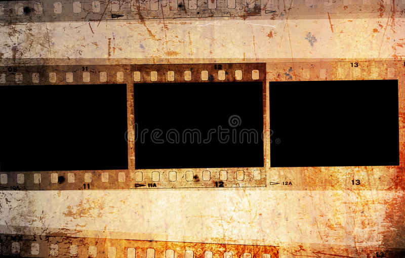 Grunge 35mm photo frames royalty free stock photography