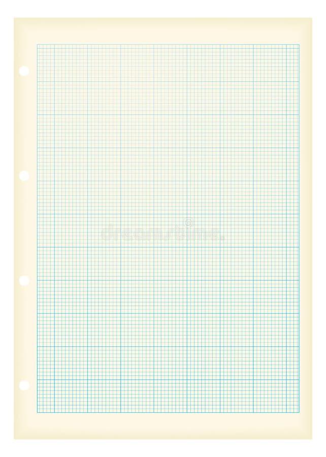 Grunge a4 Zeichenpapier mit Maßeinteilungblau vektor abbildung