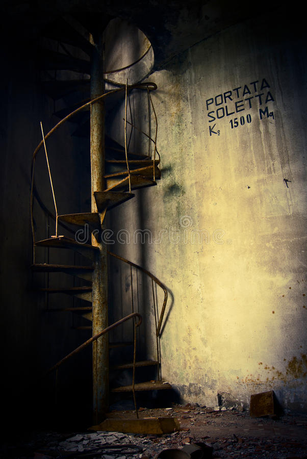Grunge Abandoned Stairs Stock Photography