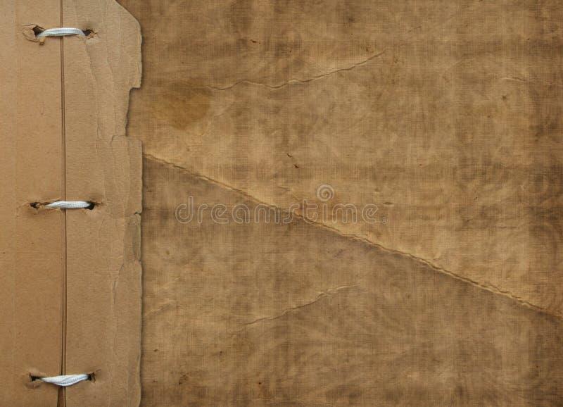 Grunge Abdeckung für ein Album mit Fotos. Portefeuille lizenzfreies stockbild