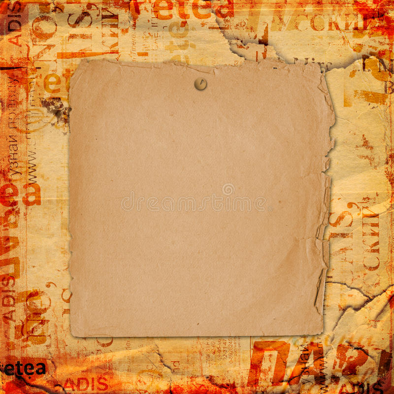 Grunge abstract background. With old torn poster royalty free stock photo