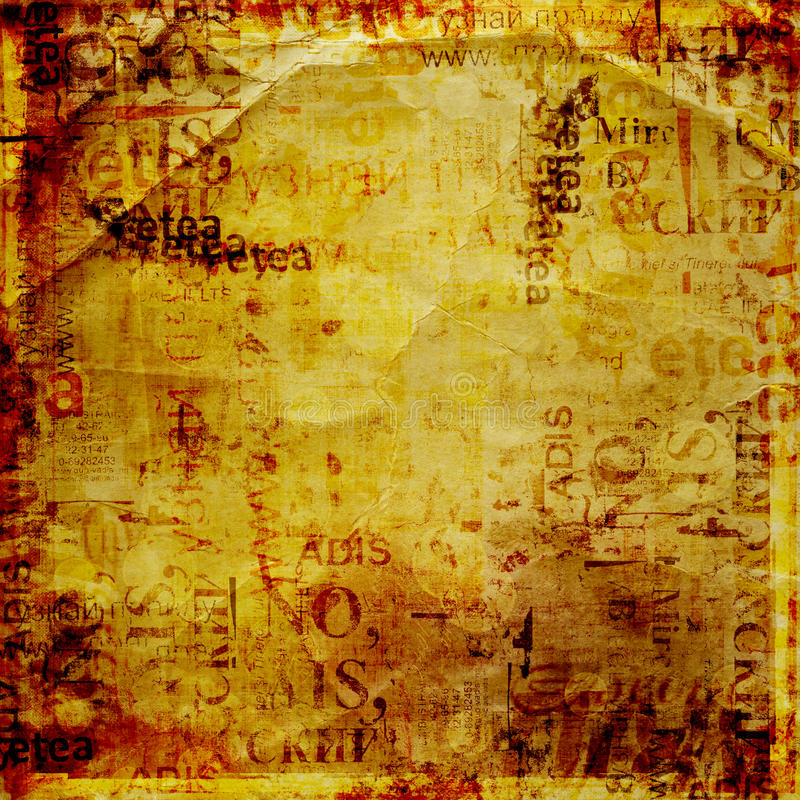 Grunge abstract background. With old torn posters royalty free stock images