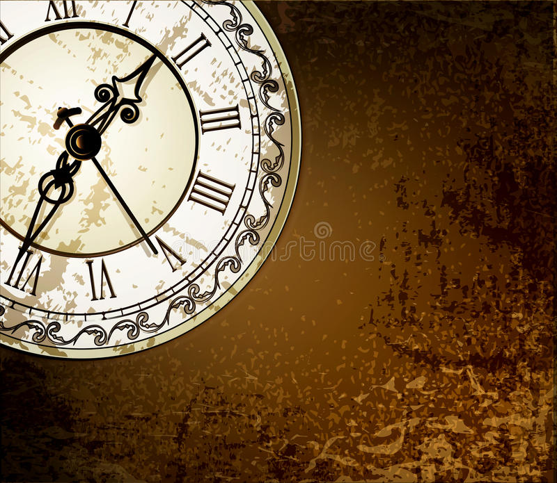 Download Grunge Abstract Background With Antique Clocks Stock Image - Image: 23621591