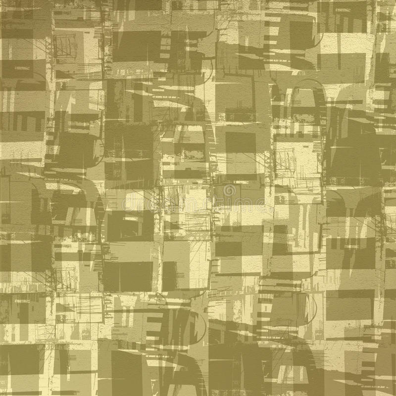 Grunge abstract background with art image. For design royalty free illustration